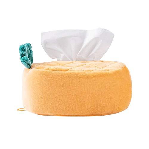 COLiJOL Paper Holder Fruit Series Tissue Box Cover Paper Towel Set, Avocado Pineapple Facial Napkin Holder, Polyester Fiber Tissue Box Holder for Car Home (Color : Avocado),Pineapple