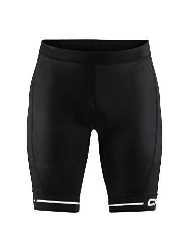 Craft Herren Rise Shorts Black White Kurze Trägerhose, weiß/schwarz, M