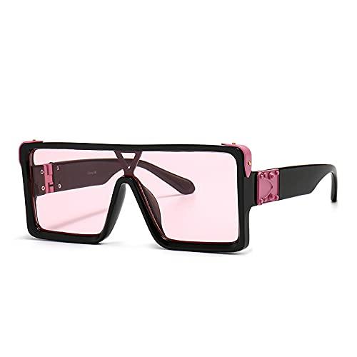 HAOMAO Gafas de Sol cuadradas de Gran tamaño con Degradado Uv400 de diseñador de Marca Vintage para Mujer 10