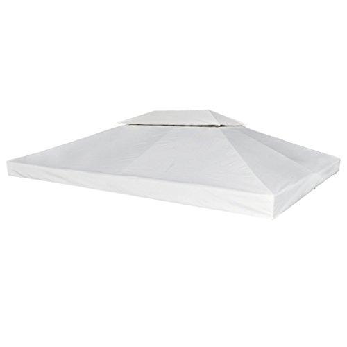 Festnight Toile de Rechange pour Gazebo Tonelle Pergola Blanc Crème 270 g/m²