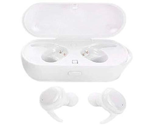Lauson Auriculares Inalambricos Bluetooth EH226 | Cascos Bluetooth 5.0 con Gancho de Silicona Antideslizante para Mejor sujeción | Auriculares Inalambricos Tipo Twin Compatible con iPhone/ Android