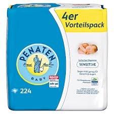 Penaten Baby Sensitiv-Pflegetücher 3-er Pack, 3x224 Tücher