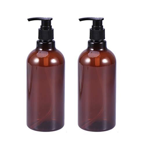 HEALLILY 2 Unidades de Botellas de Champú Vacías Botellas de Plástico con Bomba Botellas Recargables Dispensador de Jabón para Champú Jabón para Lavar El Cuerpo Loción