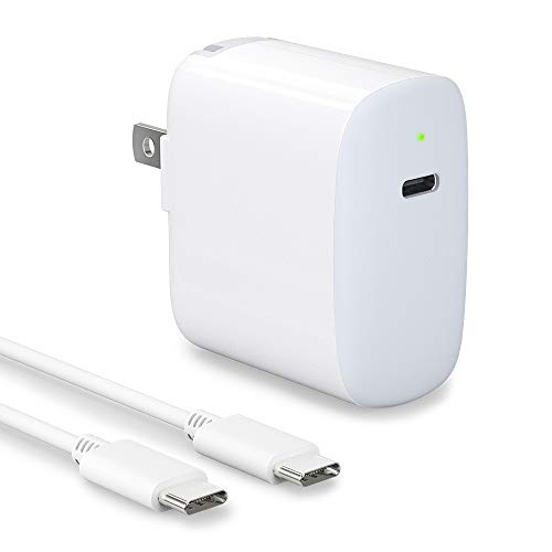18W USB C Fast Charger for iPad Pro 2020/2018 12.9 iPad Pro 11, Pixel 2 3 4 3A Pixel XL 2XL 3XL 4XL Galaxy S9 S8 Note10 9, 18W USB C Power Adapter with 6.6ft USB C to C Cable