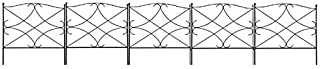Best Amagabeli Decorative Garden Fence 24in x 10ft Outdoor Rustproof Metal Landscape Wire Fencing Folding Wire Patio Fences Flower Bed Animal Dogs Barrier Border Edge Section Edging Decor Picket Black Reviews