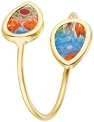 Córdoba Jewels | Anillos en Plata de Ley 925 bañada en Oro con diseño Gotas Murano Gold