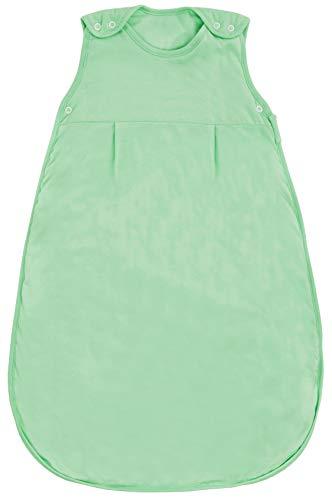 Schlummersack Babyschlafsack ganzjährig in 2.5 Tog - Mintgrün - 0-6 Monate / 70 cm