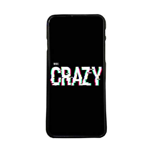 Carcasas De Moviles Fundas De TPU Compatible con El Modelo de Movil Samsung Galaxy J1 2016 Crazy Loco Loca Frases Graciosas Moda