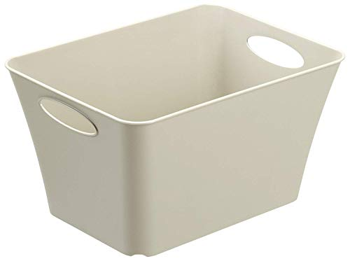 Rotho Living Aufbewahrungsbox 11l, Kunststoff (PP) BPA-frei, cappuccino, 11l (35,5 x 26,0 x 19,2 cm)