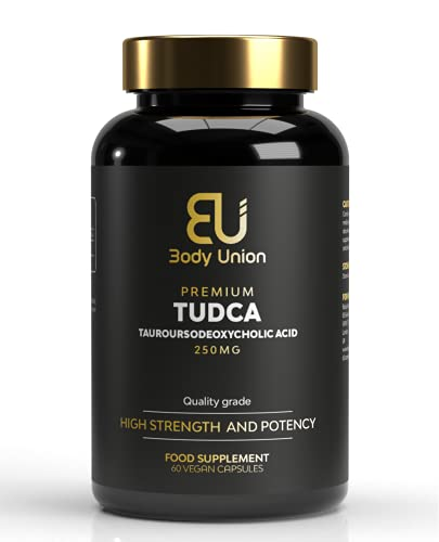 Body Union TUDCA Supplement 250mg, Tauroursodeoxycholic Acid Liver Support Capsules, Tudca Bile Salt Liver Aid, Vegan Friendly Formula, 60 Caps