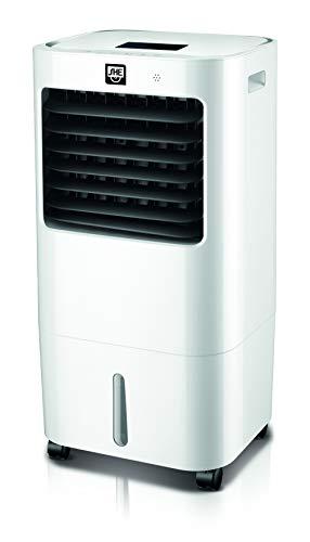 SHE Luftkühler SHE20AC2001F mit Luftreiniger und Luftbefeuchter (20 Liter Wassertank, Schwenkfunktion, 3 Geschwindigkeitsstufen kombinieren die Funktionen Kühlen und Ventilieren, 3 Windmodi), Weiß