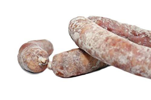 Chorizo Iberico Blanco Extra - Embutidos Ibericos de Bellota Pata Negra - Envasados al Vacio - Aromatico y Especiado con un Punto Perfecto de Pimienta - Elaboración Tradicional - 1 Pieza 500 gr Aprox