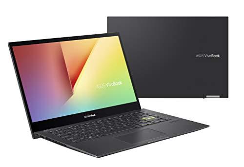 ASUS VivoBook Flip TP470EA-EC163T - Portátil 14' Full HD (Core i5-1135G7, 8GB RAM, 512GB SSD, Iris Xe Graphics, Windows 10 Home) Negro Indie - Teclado QWERTY español