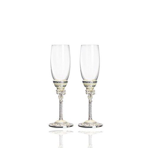 JARONG Tasse À Vin Rouge Vin Cadeau De Mariage Émail 2Pcs