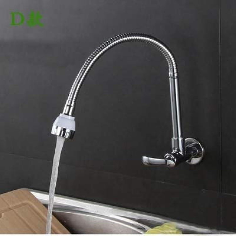 CZOOR Chrome Single Handle Kitchen Faucet Cold Water Faucet Brass Kitchen Taps Kitchen Wall Faucet, Burgundy