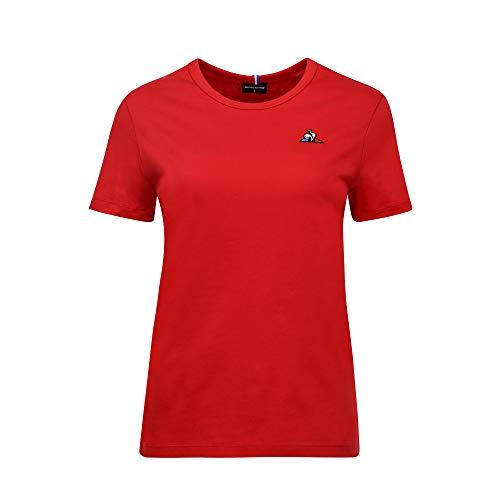 Le Coq Sportif ESS tee SS N°2 Camiseta, Mujer, Pur Rouge, M