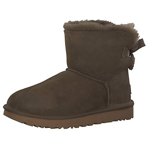 UGG Damen Mini Bailey Bow Ii Schlupfstiefel, Braun ( Euculyptus Spray), 39 EU (6 UK)