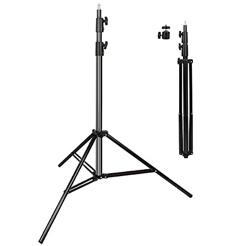Heavy Duty Light Stand 9.5 Feet/2.8 Meters Adjustable Spring Cushioned Metal Photography Tripod Stand for Photo Studio Speedlight, Ring Light, Photographic Equipments Thickening Flash Stand
