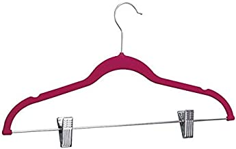 Clothes Rack Clothing Set Non-Slip Closet Drying Rack Laundry Wardrobe Storage Bag (Color : Rose red)
