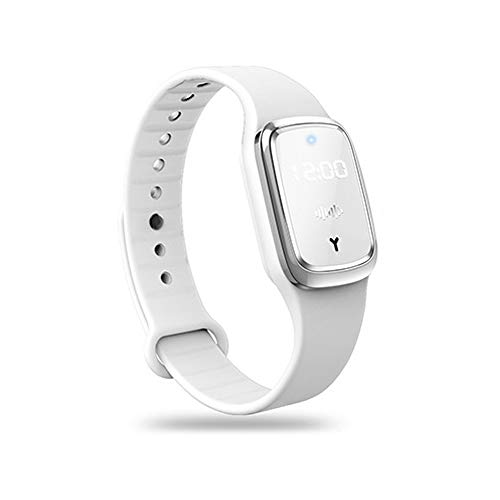 JSYL Portable Mosquito Repellent Bracelet Ultrasonic Mosquito Repellent Watch with USB Wristband Watch is Suitable for Children and Adults White