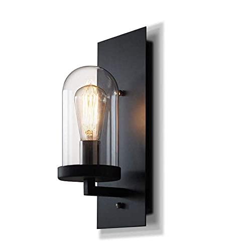 Lampara Lectura Pared,Apliques de pared, juego de 1, accesorio de luces de pared rústico para sala de estar en interiores, aplique de pared industrial negro, iluminación para decoración del hogar,