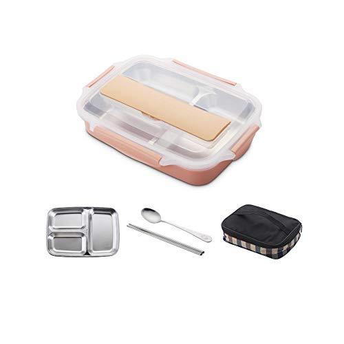 Kühler isoliertes Mittagessen-Bento Lunch Box Lebensmittelbehälter Lebensmittellagerung Aufbewahrungsbehälter für Lebensmittel Bento-Boxen Fächer Thermal Box Lunch Box Geschirrset