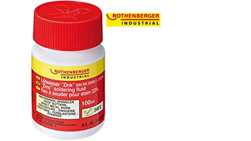 Rothenberger Industrial Lötwasser Zink, 100ml, DIN EN 29454.1, 3.2.2.A