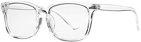 Clear plastic frame glasses _image3