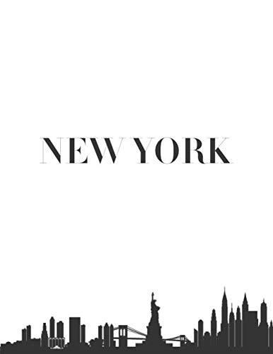 New York: New York City Skyline Bookshelf Art Decoration Fashionable Books Coffee Table Interior Design Stack Home Styling Simple Modern Aesthetic ... Vacation Souvenir I Love My City Represent