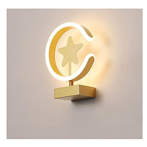Lámpara de Noche Simple, Estrella LED PROTECCIÓN DE Ojos Caliente Light 3 Color LÁMPARA DE Tabla Nuestras DE LA Nuestras, para EL Estudio DE Dormitorio FAMILIARIO Escritorio DE NIÑOS DE NIÑOS