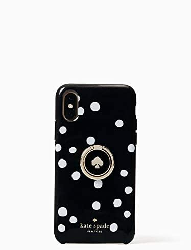 Kate Spade New York Ring Stand Polka Dots Resin iPhone Xs Max Case Black product image
