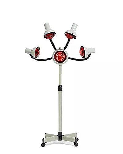 OPARYY 5 Kopf Infrarot Wärme Lampe Rotlicht Haartrockner Farbe Prozessor Haar Styling Flexible Arme Mit Rädern Lampen 750 Watt