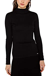 ESPRIT Damen 129Ee1I003 Pullover, Schwarz (Black 001), X-Small (Herstellergröße: XS)