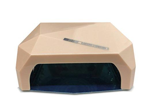 Crisnails - 36W Lámpara de Uñas Manicura CCFL CFL para Gel y Esmalte UV LED Secador Lámpara [Clase de eficiencia energética A+] (Rosa Palo)