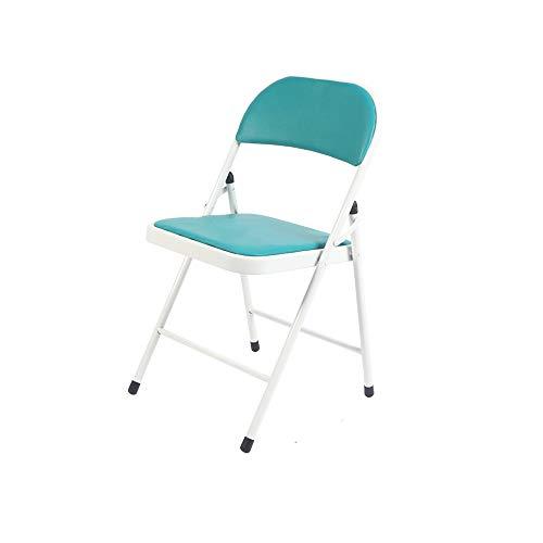 QGHLW Sedie pieghevoli pelle artificiale sedili imbottiti e sedie schienali ufficio Computer da ufficio personale della sedia sedie pieghevoli computer di casa Tempo libero Poltrone dormitorio sedie S