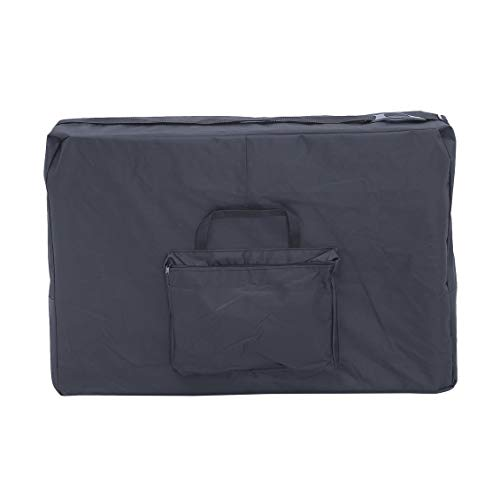 Nylon Carrying Case Massage Couch Carry Bag with Cushioned Base Durable Therapy Table Pouch Universal Reiki Bed Sack - Black - 186x70CM