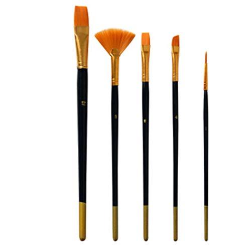 Yinew Peinture Brosse Manche en Bois Peinture Brosse Aquarelle Huile Acrylique Dessin Doux Brosse Outils Accessoires