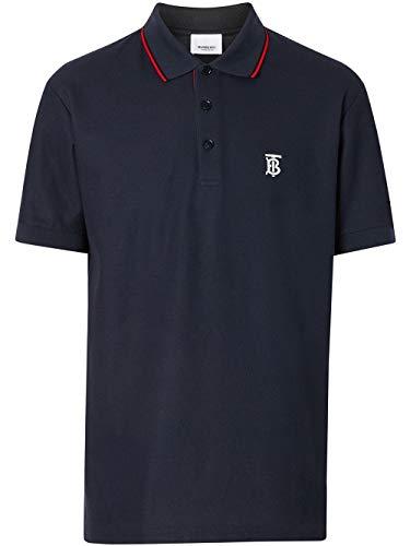 BURBERRY Luxury Fashion Herren 8017007 Blau Baumwolle Poloshirt | Ss21