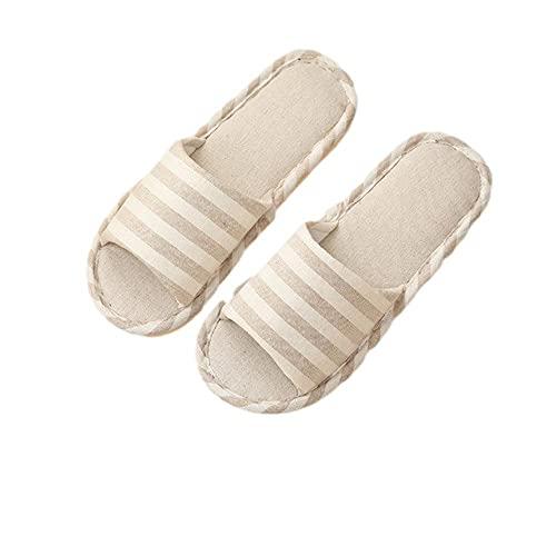 Zapatillas para ropa de cama para el hogar zapatillas de piso antideslizantes para el hogar-Caqui_36-37