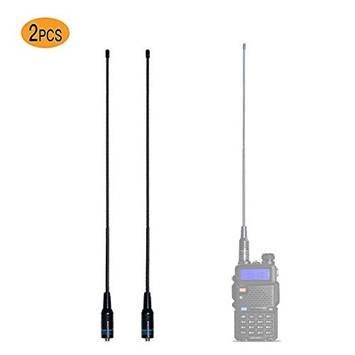 petit un compact Lot Na-771, 2 antennes double bande COVVY 15,6 pouces UV-VHF / UHF-SMA-F, compatibles 144 / 430MHz…