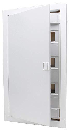 Kopp 340513002 Unterputz & Hohlwand-Verteilerkasten mit Metalltür 3-reihig für 36 Pole, weiß