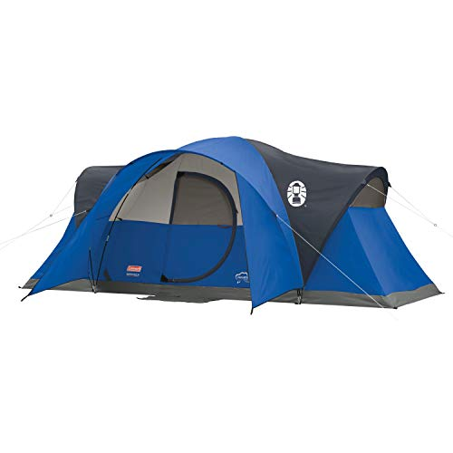 Coleman Tent for Camping | Montana Tent with Easy Setup for Outdoors , Blue, 8-Person