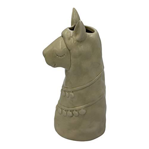 Housevitamin bloempot 'lama' - bloemenvaas/plantenpot/vaas keramiek - wit