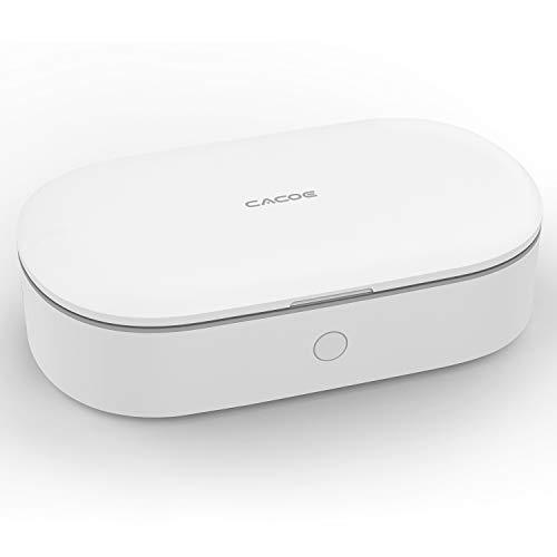 CACOE Sterilizzatore UV Box Portatile Disinfezione Professionale con Aromaterapia Lampada UV Box con Ozono per Telefoni Cellulari, Pinze per Unghie, Chiavi, Orologi per Spazzolini da Denti