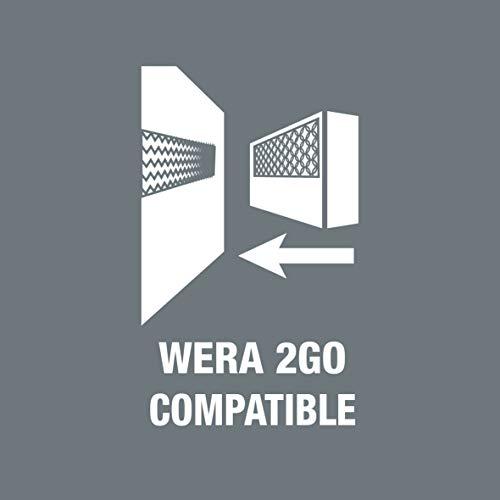 Wera 5059295001 KK 60 Kraftform Bitholding Screwdriver and 3 1/2-Inch Bit Pouch Set, 17-Piece, Multi