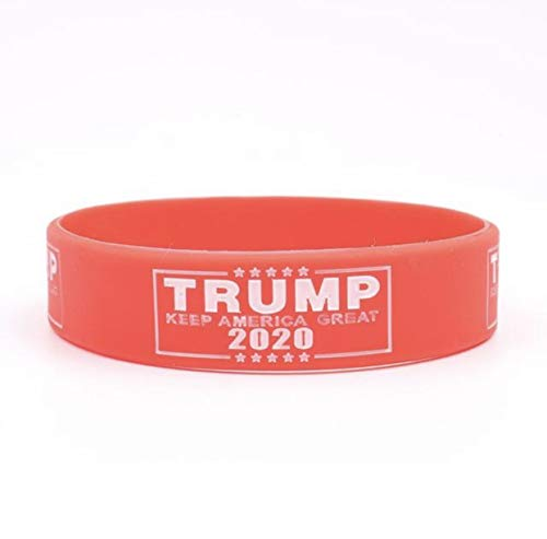 Donald Trump Election Slogan Silicone Bracelets Keep America Great 2020 New Version Silicone Wristband Blue Red Color for Adult