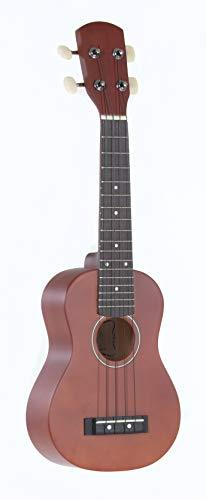 GEWApure PS512820 Ukelele soprano Almeria color marrón rojizo