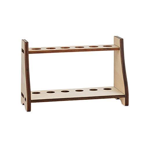 Tuuters hoogwaardige reageerbuishouder van hout, verschillende ontwerpen, praktisch voor laboratorium en huishouden, kleur popel licht 18,5 mm