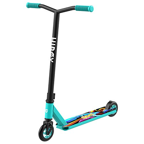 Hiboy ST-1 Pro Scooter - Aircraft Aluminum High Performance & 110mm Wheels Stunt Scooter - Best Beginner Trick Scooter - Freestyle Kick Scooter for Kids, Teens, and Adults (Teal)