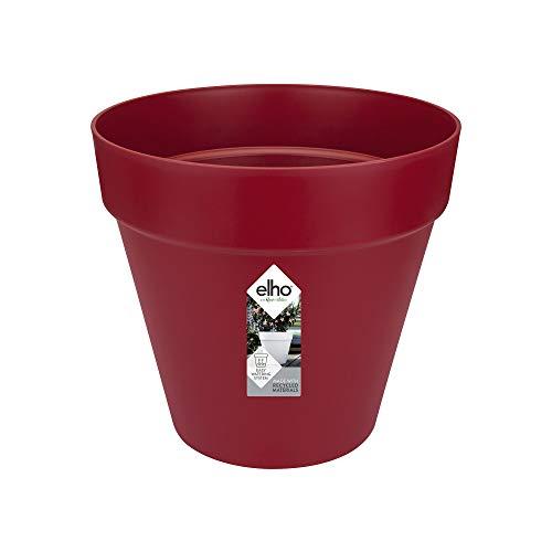 Elho Loft Urban Round Macetero Redondo, Cranberry Red, 20 cm